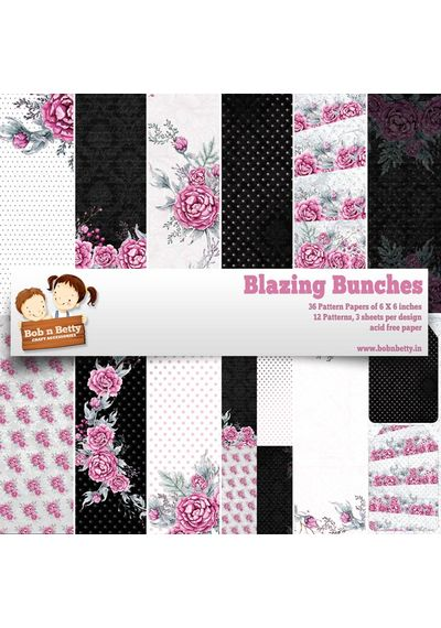 """Blazing Bunches Paper Pack 6""""x6"""", 36/pkg"""