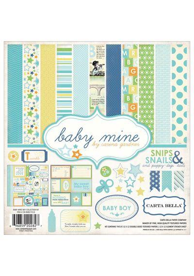 "Baby Mine/Boy Collection Kit 12""X12"""