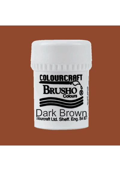 Brusho Crystal Colour 15g - Dark Brown