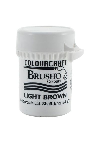 Brusho Crystal Colour 15g - Light Brown