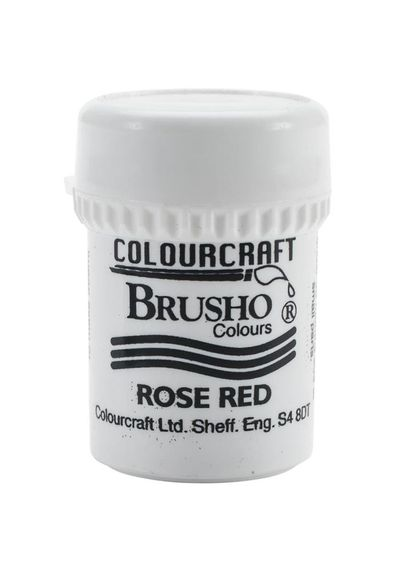 Brusho Crystal Colour 15g - Rose Red