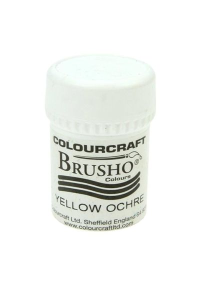 Brusho Crystal Colour 15g - Yellow Ochre