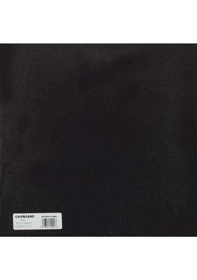 """Black Chipboard - 12"""" X 12"""""""