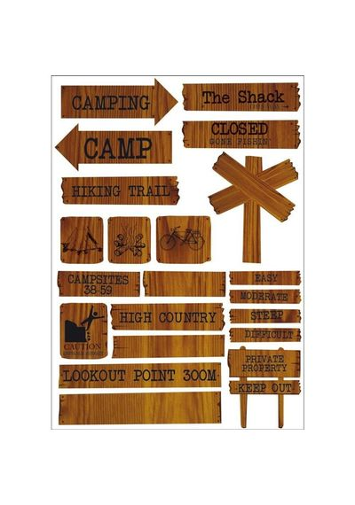 Hunt & Gather Printed Chipboard 8.25\