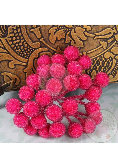 Crystal Beaded Single Pollens - Bright Pink