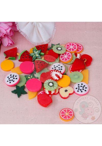 Fruits Cabochons - Mixed Pack of Cabochon - 50 pcs