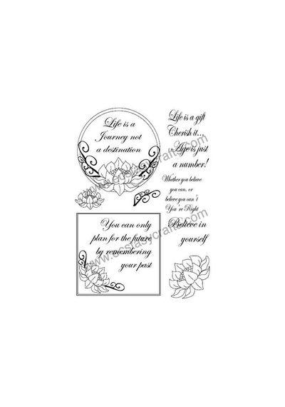 Lotus Frame Stamp Set