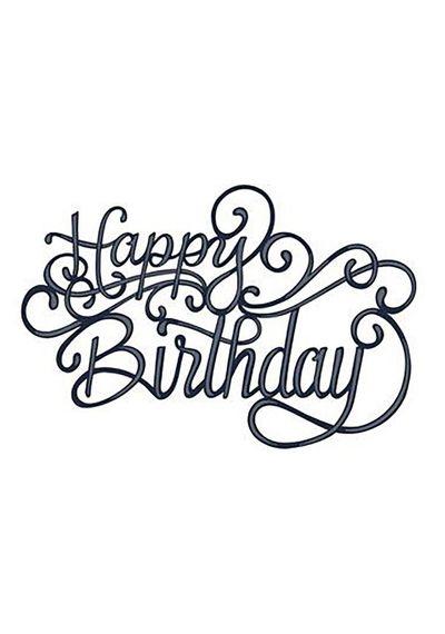 Scripted Happy Birthday Die