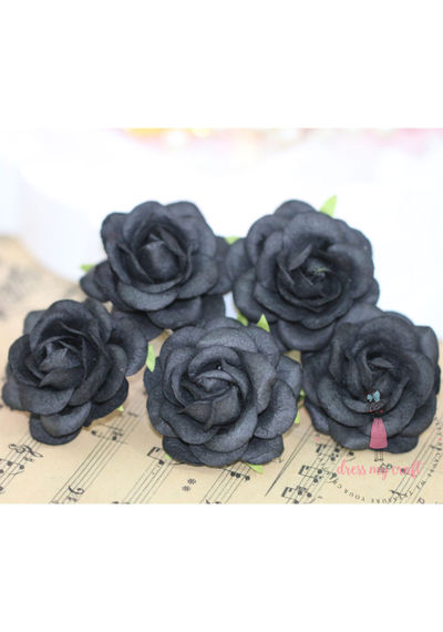 Curved Roses  45 MM - Black Beauty