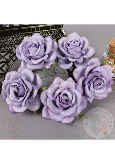 Curved Roses 45MM - Lavender