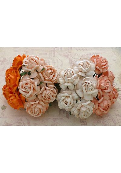 Curved Roses Combo - PEACH/ORANGE