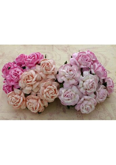 Curved Roses Combo - Pink Tone