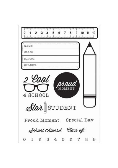 2 Cool For School Clear Stamps 6.25 X4