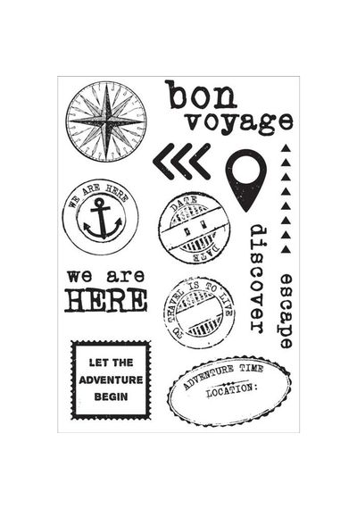 Wanderlust Clear Stamps