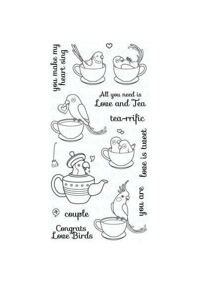 Love Birds - Stamp
