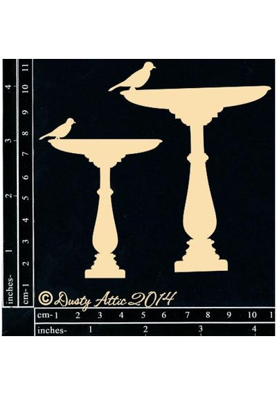 Birdbath 2pk - Chipboard Cutouts