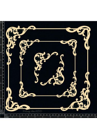 Baroque Frame Set - Square - Chipboard Cutouts