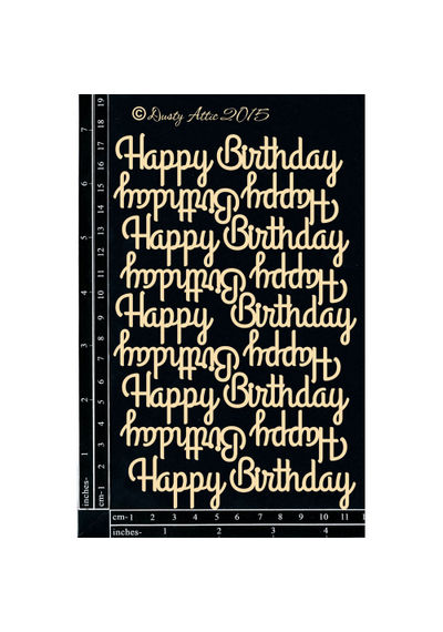 Mini Happy Birthday - Chipboard Cutouts