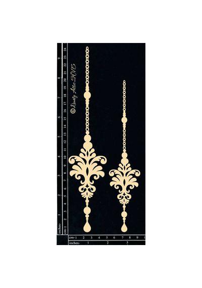 Ornate Pendants #4 - Chipboard Cutouts