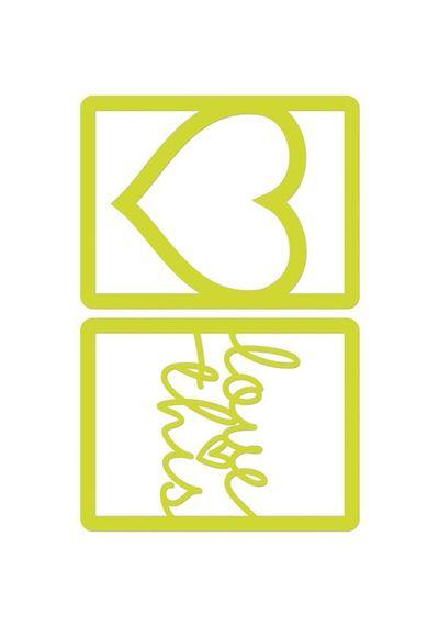 "Love Frames 4""X3"""