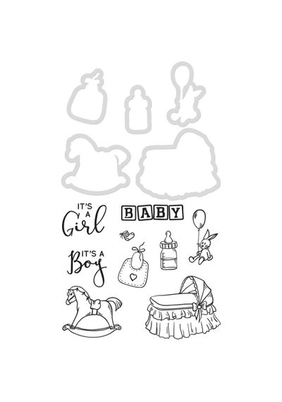 """Baby .5""""X1.25"""" To 1.75""""X 2.25"""" - Dies & Stamps"""