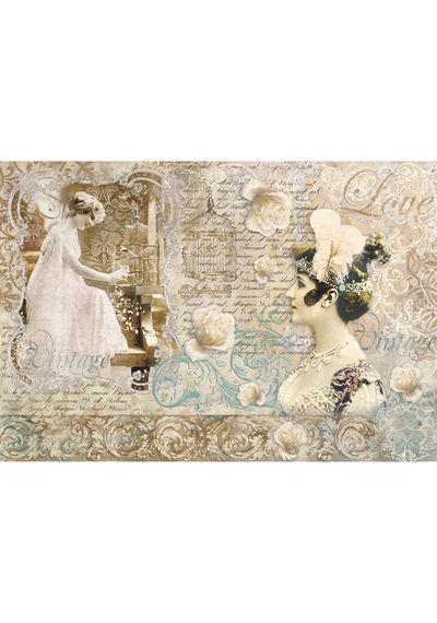 Vintage love letter-Decoupage Rice paper