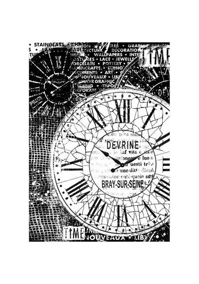 Clocks-Decoupage Rice Paper