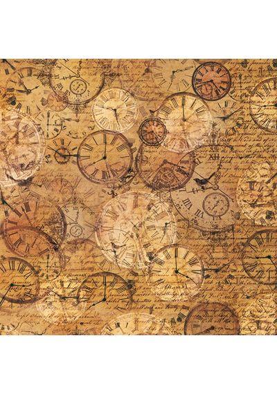 Texture clocks-Singel Napkin in Rice Paper