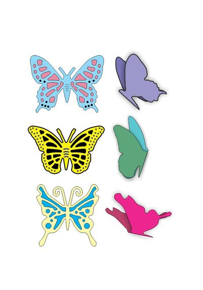 Small Exotic Butterflies #1 w/Angel Wings