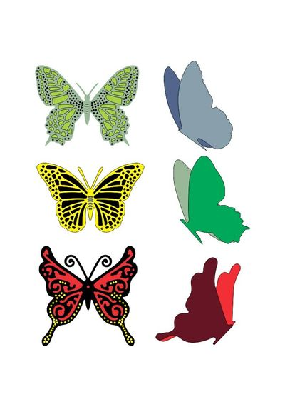 Small Exotic Butterflies #2 w/Angel Wings