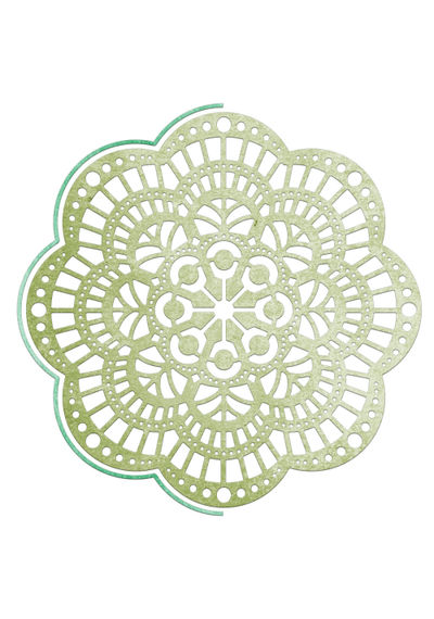 Ambergris Doily W/ Angel Wing - Die