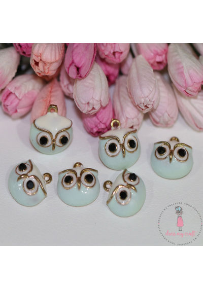 Little Owls - Blue/White