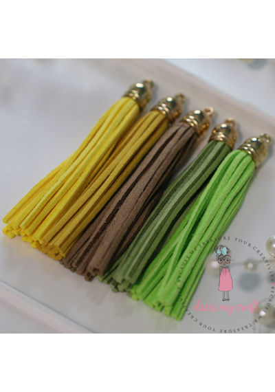 Large Faux Leather Tassel - Brights
