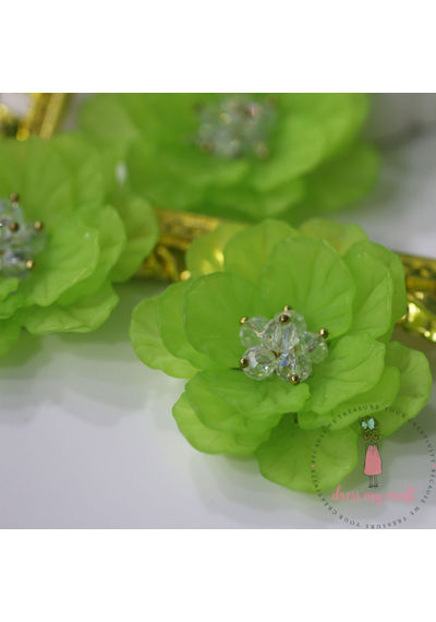 Big 3D Fairy Flowers - Green