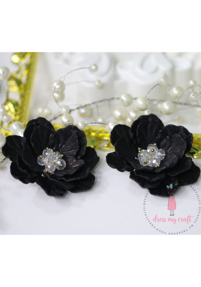 Big 3D Fairy Flowers - Black