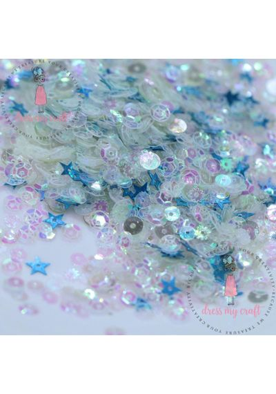 Crystal Blue Sequins