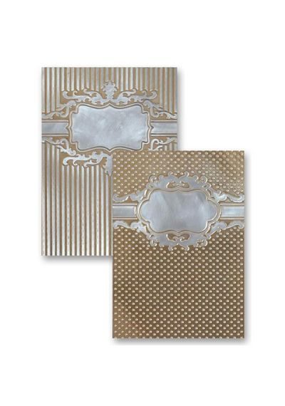 Framed Petite Labels - Embossing Folder