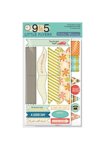 9 To 5 Little Flyers Flag Kit 10 Flags, 10 Stickers, 10 Wooden Picks