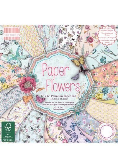 """Paper Flowers Paper 6""""X6"""" 64/Pkg"""