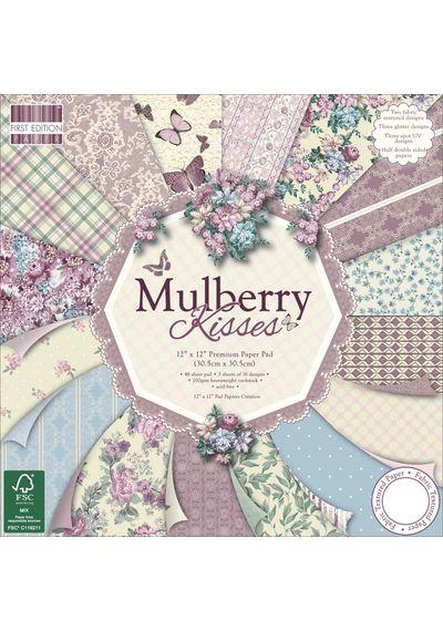 """Mulberry Kisses Paper 12""""X12"""" 48/Pkg"""