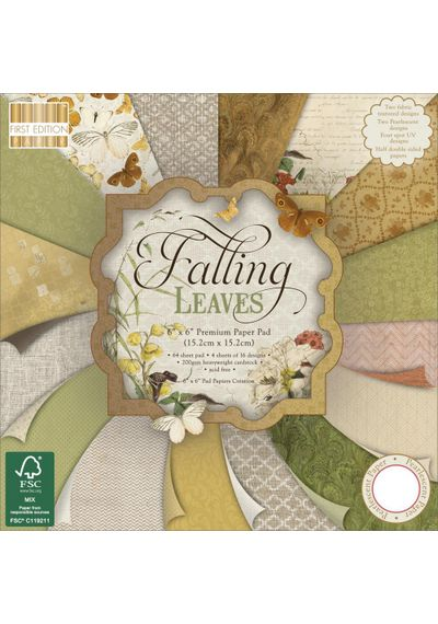 """Falling Leaves Paper 6""""X6"""" 64/Pkg"""