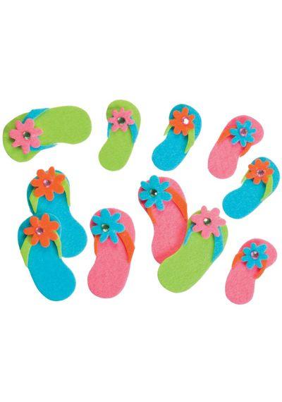Flip-Flops W/Gems - Foam Stickers