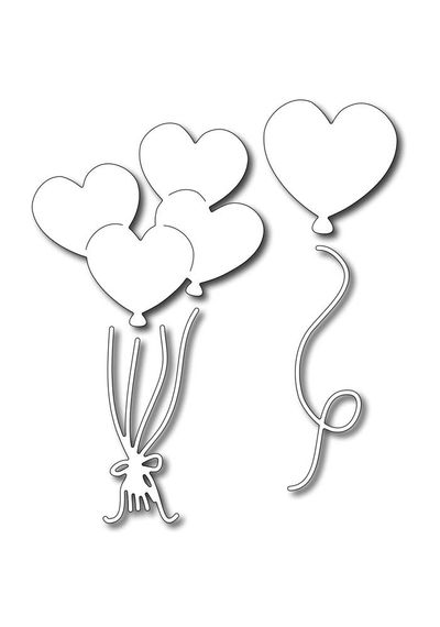Heart Balloons (set of 4 dies)