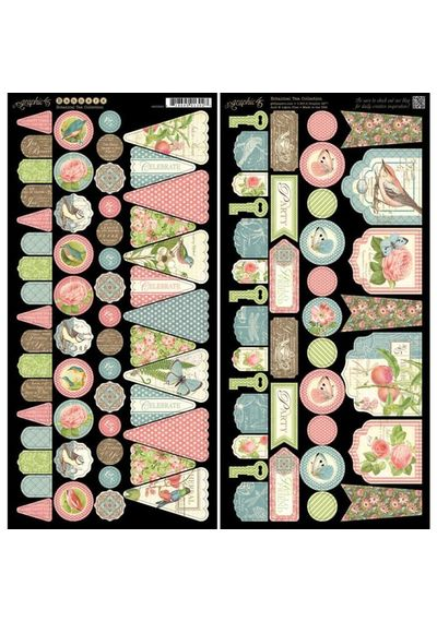Botanical Tea Cardstock - Banners