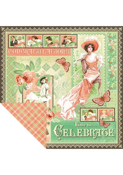"Time to Celebrate - Time To Celebrate Double-Sided Cardstock 12""X12"""