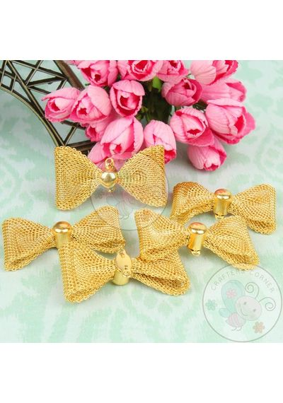 Golden Wire Mesh Bow