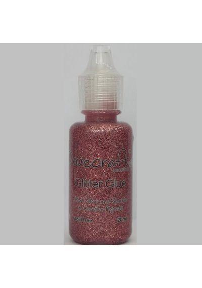 Rose Glitter Glue 20ml