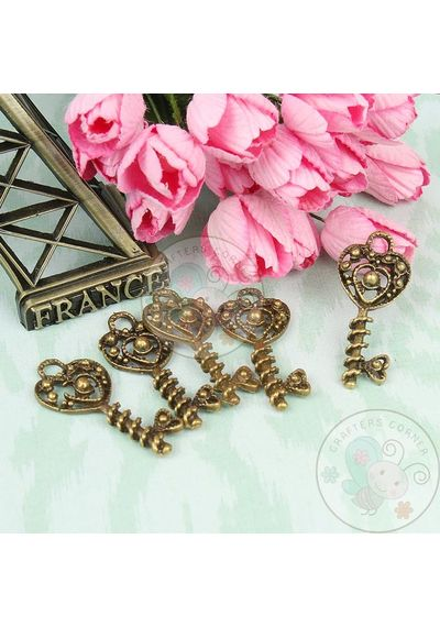 Heart Beaded Key