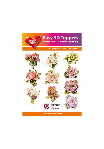 Flowers - Easy 3D Toppers