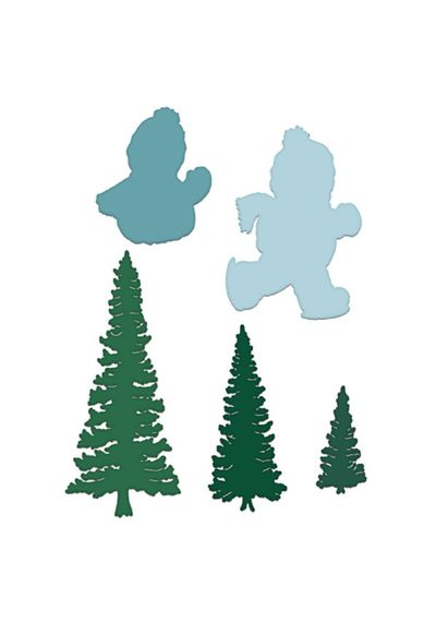 Frolicking Frosty And Spruce - Die